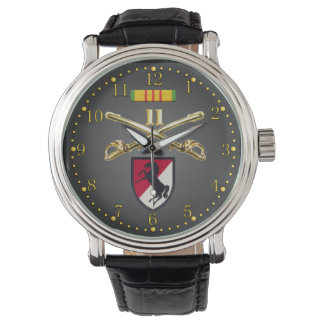 11th ACR Crossed Sabers Ribbon & Patch Watch