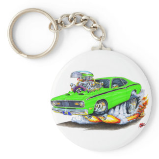 1970-74 Plymouth Duster Lime Car Keychain