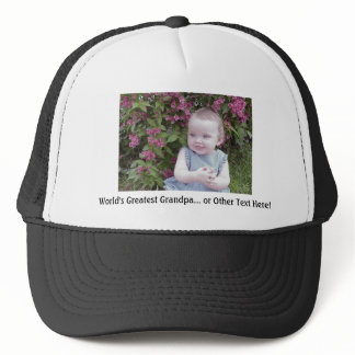 1 Photo and Custom Text - make it yours - Trucker Hat
