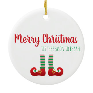 2020 Is Elfed Up Funny Christmas Saying Green Ceramic Ornament