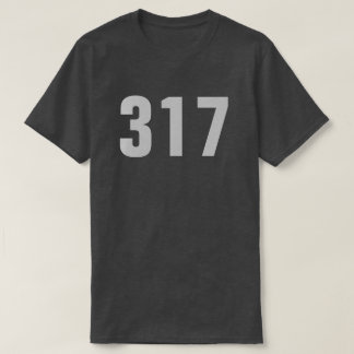 317 - Indianapolis Area Code T-Shirt