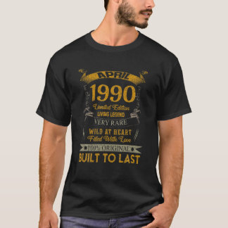 31 Years Old 31St Birthday Decoration April 1990 T-Shirt