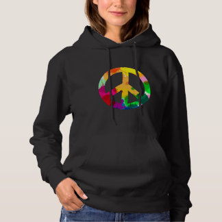 Abstract World Peace Symbol Hoodie