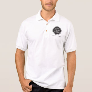 Add your own custom business logo and text polo shirt