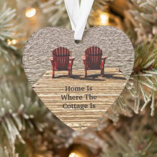 Adirondack Chairs Red Home Is Where The Cottage Is Ornament