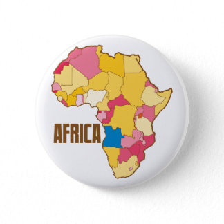AFRICA color map nation Pinback Button