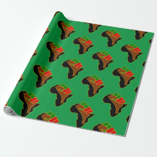 Africa  Fist Christmas Holiday Homeland Wrapping Paper