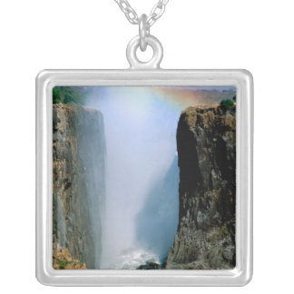 Africa, Zambia, Victoria Falls National Park. Silver Plated Necklace