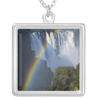 Africa, Zimbabwe, Victoria Falls Silver Plated Necklace