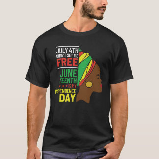 African American Design for Black History Lovers T-Shirt