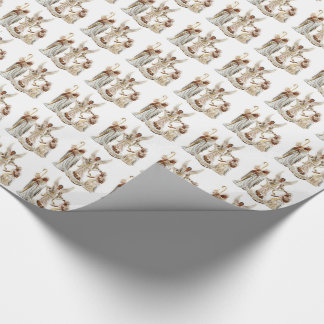 African American Nativity Scene Christmas Wrapping Paper