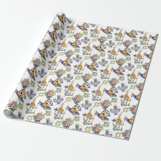 Alice in Wonderland Collage Christmas Gift Wrapping Paper