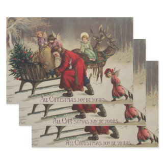 All Christmas Joy Wrapping Paper Sheets