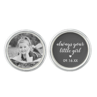 Always Your Little Girl Father Of The Bride Photo Cufflinks
