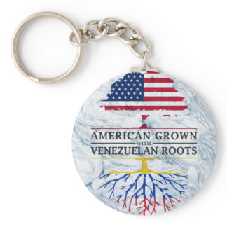 American Grown with Venezuelan Roots Marble Style Keychain