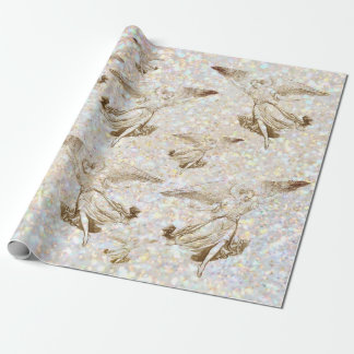 angels pattern wrapping paper