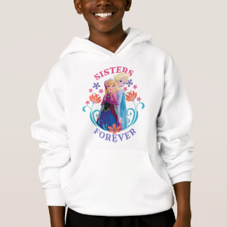 Anna and Elsa | Sisters with Flowers Hoodie
