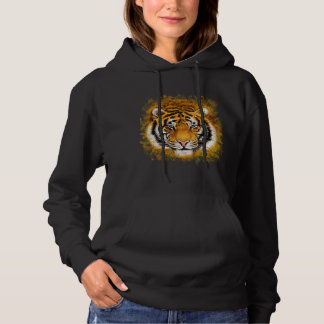 Artistic Tiger Face Hoodie