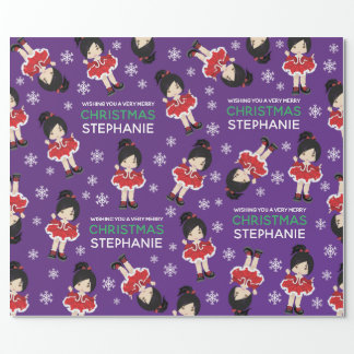 Asian Christmas Dancer Wrapping Paper