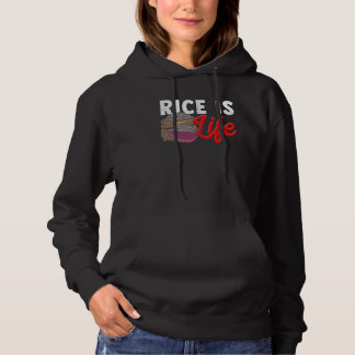 Asian Food Lover Quote Rice Addicted Hoodie