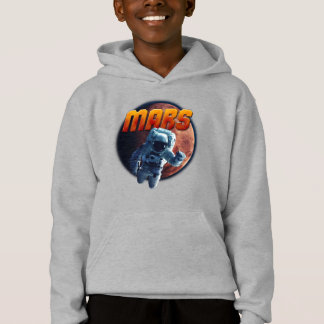 Astronaut in front of the Mars planet. Hoodie