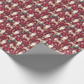 Aussie Dog red merle christmas Wrapping Paper