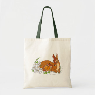 Bambi Resting With His Mother Tote Bag