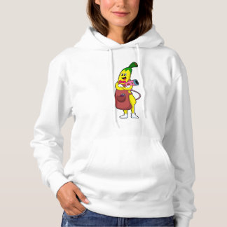 Banana as Hairdresser with Hair dryer Hoodie