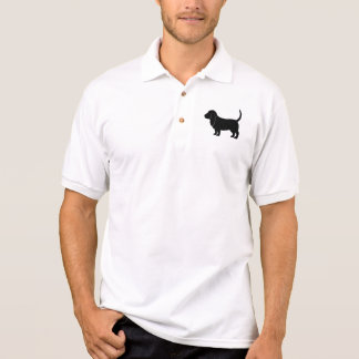 Basset Hound in Silhouette Polo Shirt