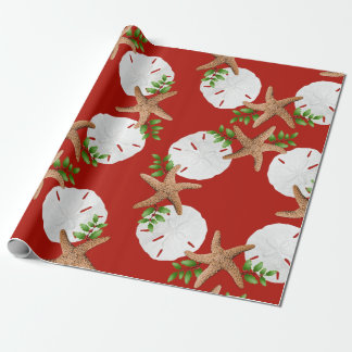 Beach Wreath Large Pattern Christmas Wrapping Paper
