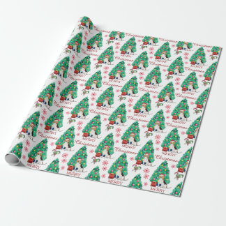 Beagle Dog Christmas Pattern Wrapping Paper