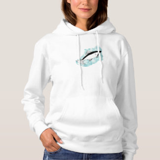 Beautiful Artistic Hand-drawn Salmon with Blue Hoodie