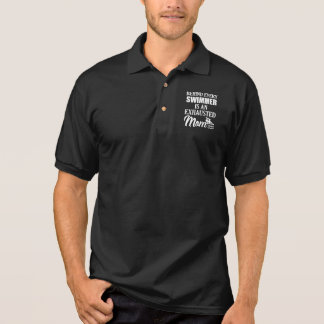 Behind every swimmer is an exhausted mom polo shirt