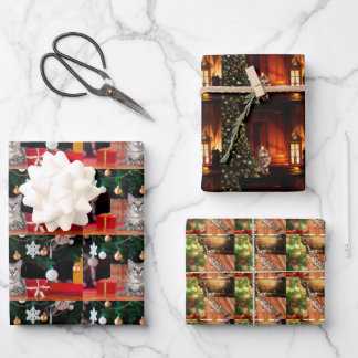 Bengal Cats Christmas Wrapping Paper Sheets