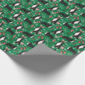 Bernese Mountain Dog Holiday xmas Wrapping Paper