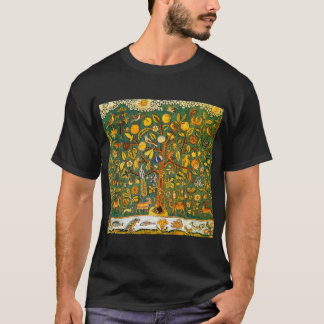 Biblical Tree of Life 17th Century Embroidery T-Shirt
