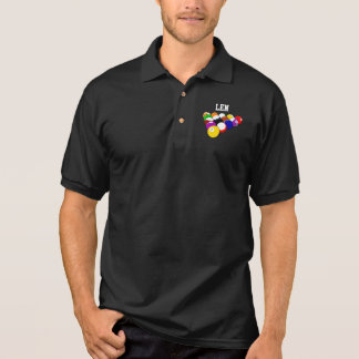 Billiards template polo shirt, ready to customize