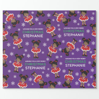 Black Christmas Dancer Wrapping Paper