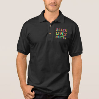 Black Lives Matter Painting 01 Rise Up Polo Shirt