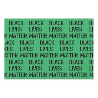 Black Lives Matter Stencil 01 Custom Color Green Wrapping Paper Sheets