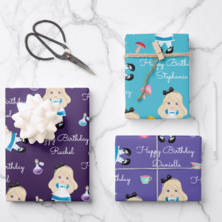 Blonde Alice's Adventures in Wonderland Wrapping Wrapping Paper Sheets