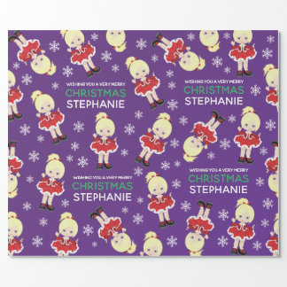 Blonde Christmas Dancer Wrapping Paper