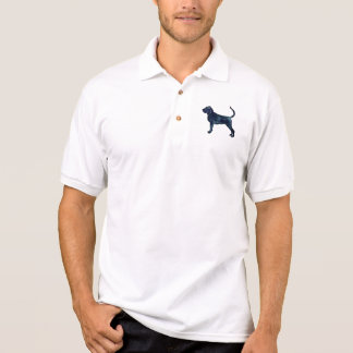 Bloodhound Dog Breed Black Watercolor Polo Shirt