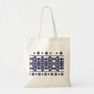 Blue Embroidery Tote Bag