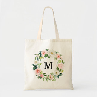 Blush Florals | Personalized Tote Bag