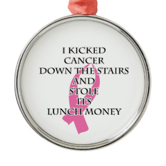 Breast Cancer Bully Metal Ornament
