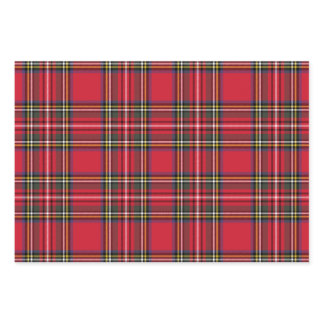 Bright Red Scottish Christmas Plaid Tartan Wrapping Paper Sheets