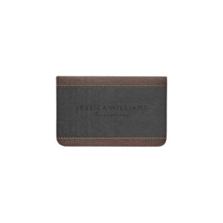 Brown & Gray Vintage Leather Texture Card Holder
