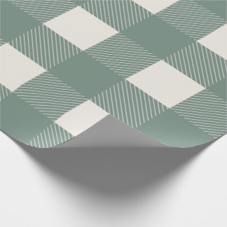 Buffalo Check Green Simple Stylish Trendy Wrapping Paper
