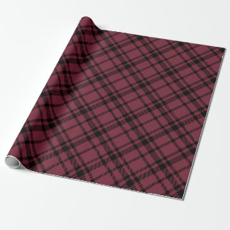 Burgundy Red Tartan Plaid Holiday Wrapping Paper